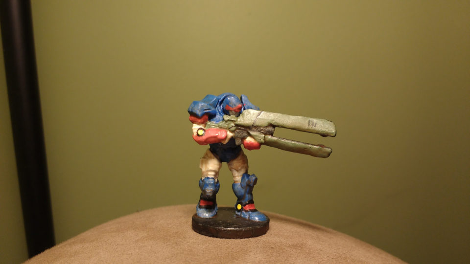 Enforcer Peacekeepers Miniature painted red, white, and blue