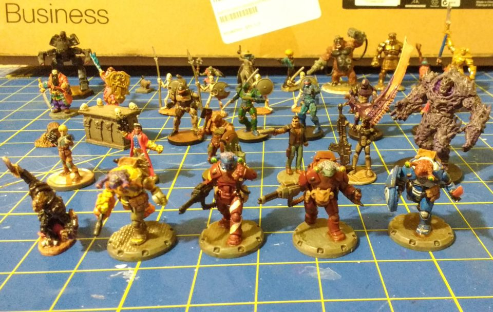 The first 38 miniatures that I painted coated in matte finish