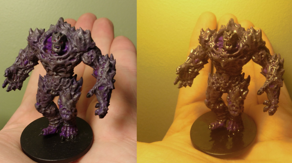 This is a Plague 1st Gen miniature painted to resemble Dark Force with a matte finish