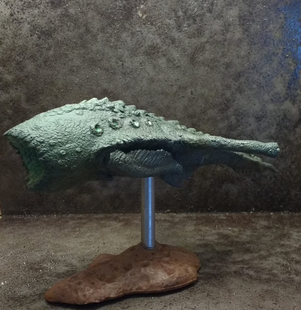 The Magellanic Nomad miniature from Khurasan Miniatures viewed from the side