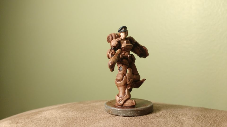 Relic Knight Sophia Drake with Dress Cap painted in earth colors