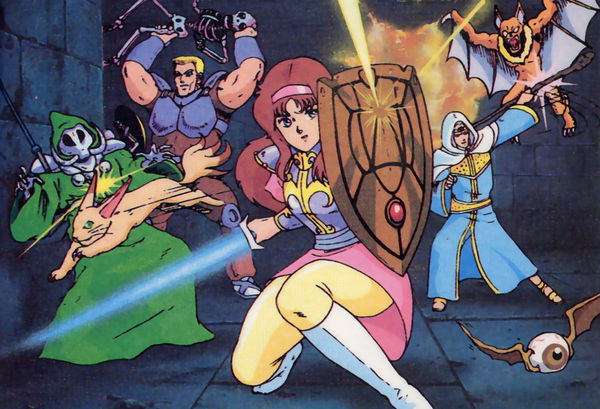 Promotional art from the original Phantasy Star