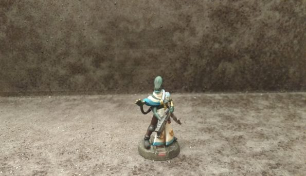 Kasatha Technomancer miniature by Thallos Mistwalker and printed by Shapeways.