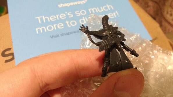 Unpainted Kasatha Technomancer out of the box from Shapeways