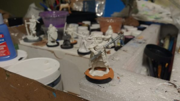 The Pathfinder Series Graveknight miniature from Reaper Bones converted to replace the skull club with a broken sword.