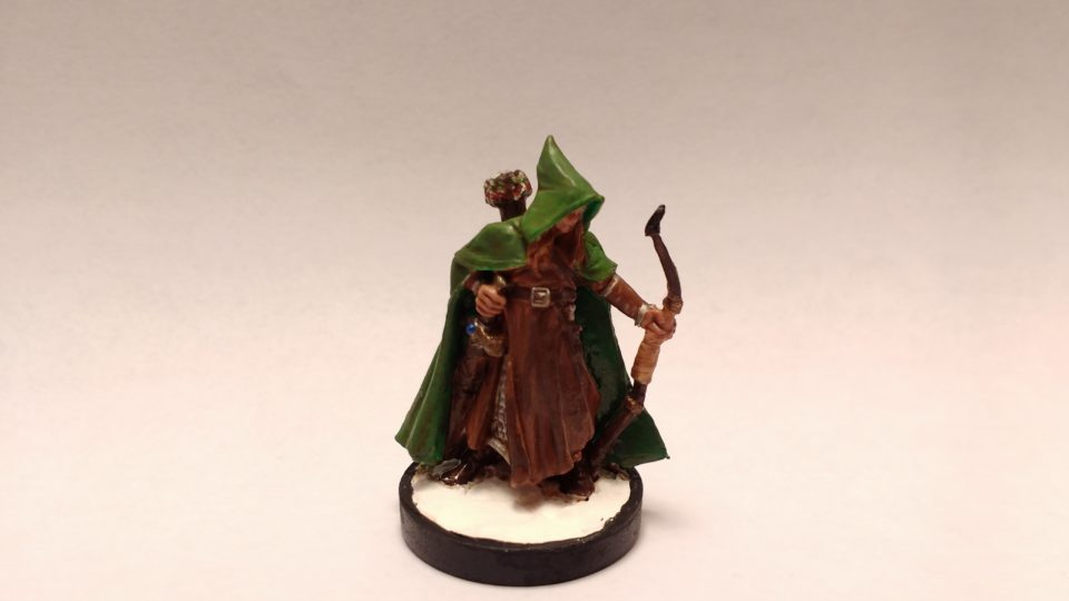 Arthrand Nightblade, Elf Ranger miniature from Reaper Bones. Viewed from front.