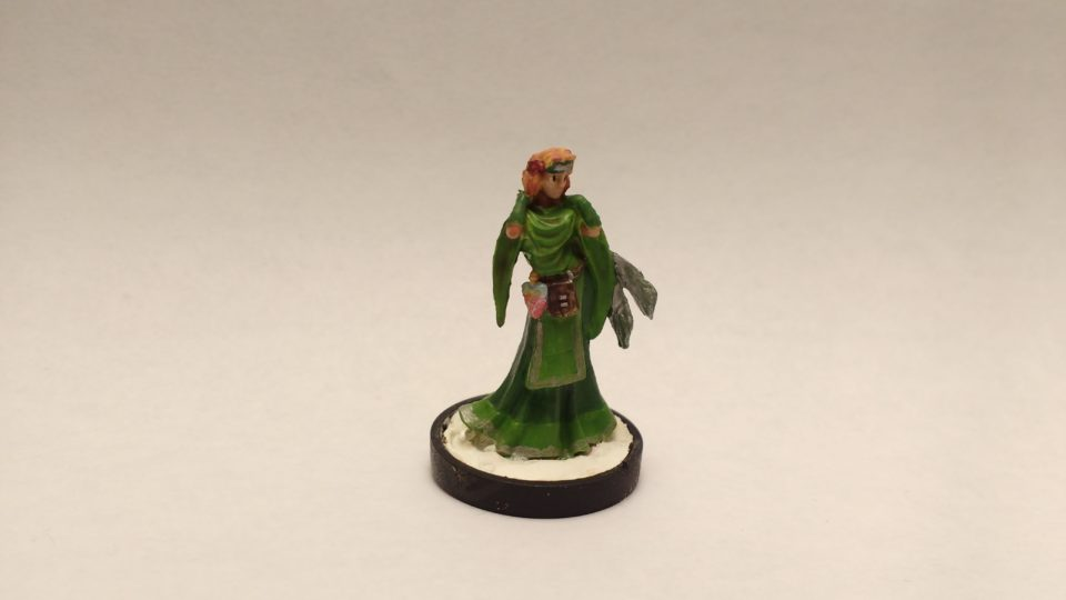 Ostarzha Elf Cleric miniature from Reaper Bones. Viewed from Front.