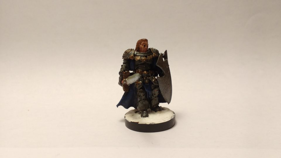 The Duke Gerard miniature from Reaper Bones. Viewed from Front.