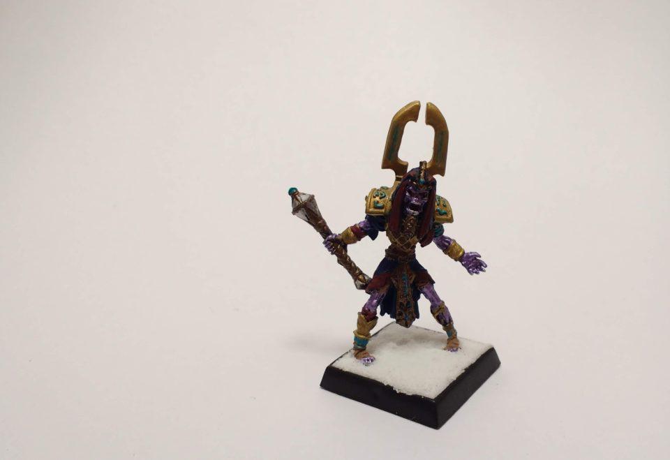 Reaper Warlord miniature Chosen of Sokar viewed from front.