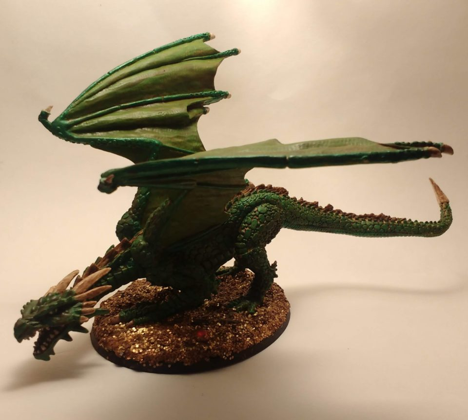 Marthrangul the Great Dragon miniature from Reaper Bones viewed from the Front