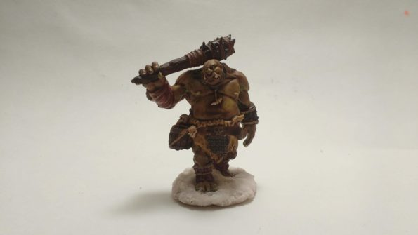 The Ogre Guard miniature from Reaper Bones viewed from the front