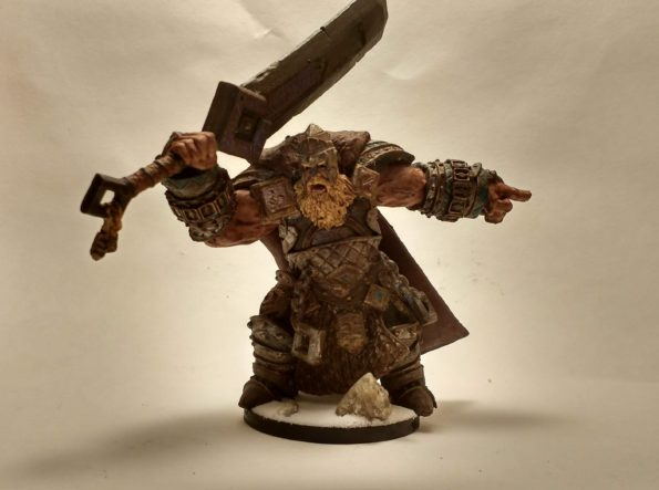 Skorg Ironskull Fire Giant King miniature viewed from the front